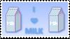 I LOVE MILK Stamp by Aeonne