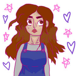 A More Girly Self Portrait by RosemaryBrooke