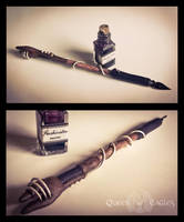 Gift - Terra's staff as a pen by queenofeagles