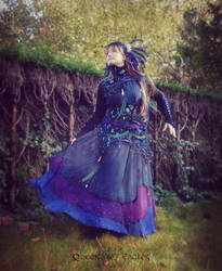 Starry Dress - in the garden by queenofeagles