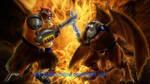A random fight..color by gato-meow