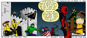 Adventures of Matt -n- Nae #29 - Deadpool's Agent by TheEvilNae