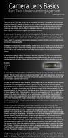 Camera Lens Basics - Part Two by DavidVogt