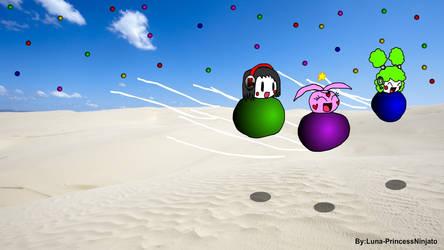 Ride the magic bubles by LunaPrincessNinjato