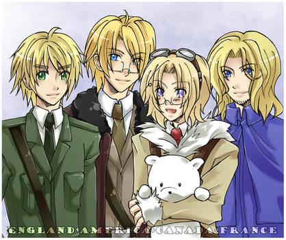 APH - Family Portrait by mikokume-raie