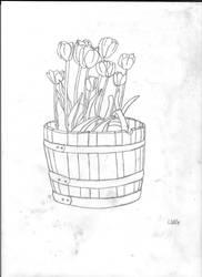 Flower Pail by DragonLugia