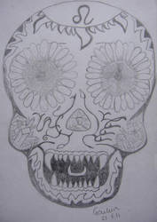 Leo Zodiac Skull Version 2 by NocturnalHouse