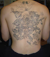 Full Back Piece Linework by NocturnalHouse
