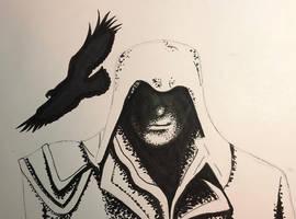 Assasins Creed (Fan Art) Inktober Day 15 by MakeArtReal