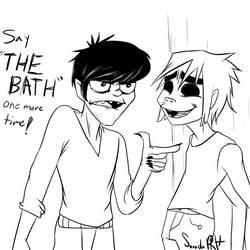 Murdoc's Reaction to 'THE BATH' Meme by Zonida