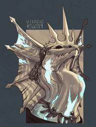 Commission - Flight Rising - Alabaster by Vierdz