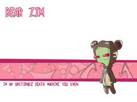 bear zim by alucardunit01