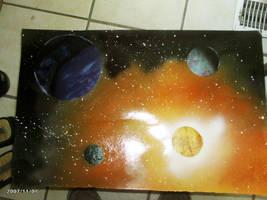 My first spray paint art by imgonnaeatamoose