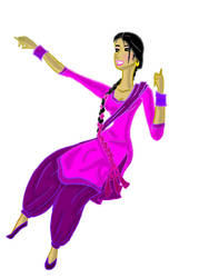 Laika Punjaban - Punjabi Lady by ArsalanKhanArtist