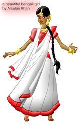 A Beauiful Bengali Girl by ArsalanKhanArtist
