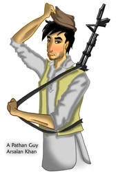 A Pathan Guy with a gun by ArsalanKhanArtist