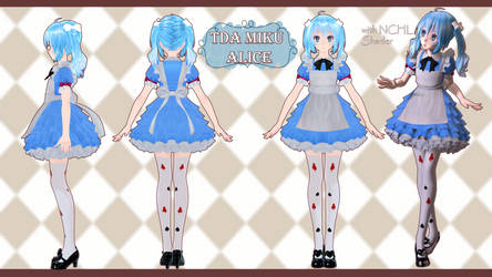 TDA Miku Alice [Collection Alice In Wonderland] by MovingModelProject