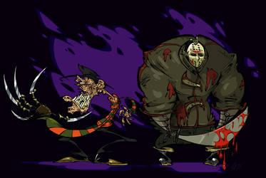 Freddy and Jason by BrendanCorris