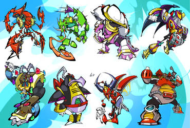 Mega Man X Bosses by BrendanCorris