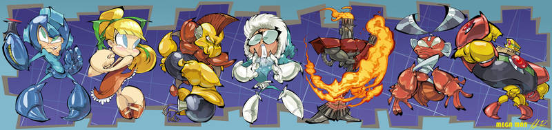 Mega Man Bookmark by BrendanCorris