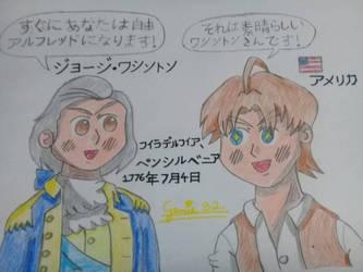 Hetalia - American Independence by Genie92