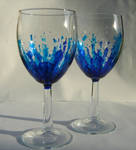 Blues Drinking Glasses by wyrd-art