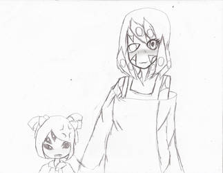 Ahston and Muffet  hold hands by Zeroice1
