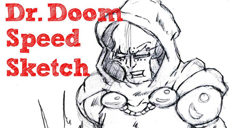 Dr  Doom Speed Sketch (youtube video link below) by dougk101