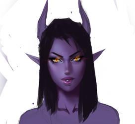 Purple Demon Girl by MRGunn-Art