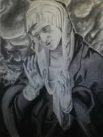 charcoal renaissance portrait by voidrunner