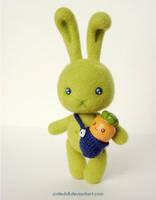 Green rabbit 03 by Katy-Doll