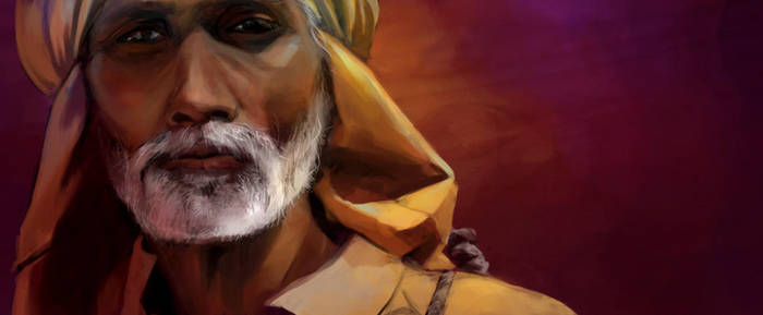 Old Indian Man by frostcrystal