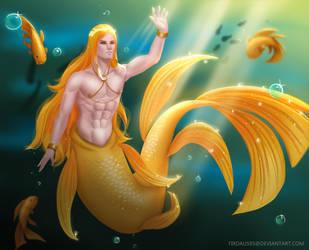 Goldfish Prince #MerMay by FirdyArt