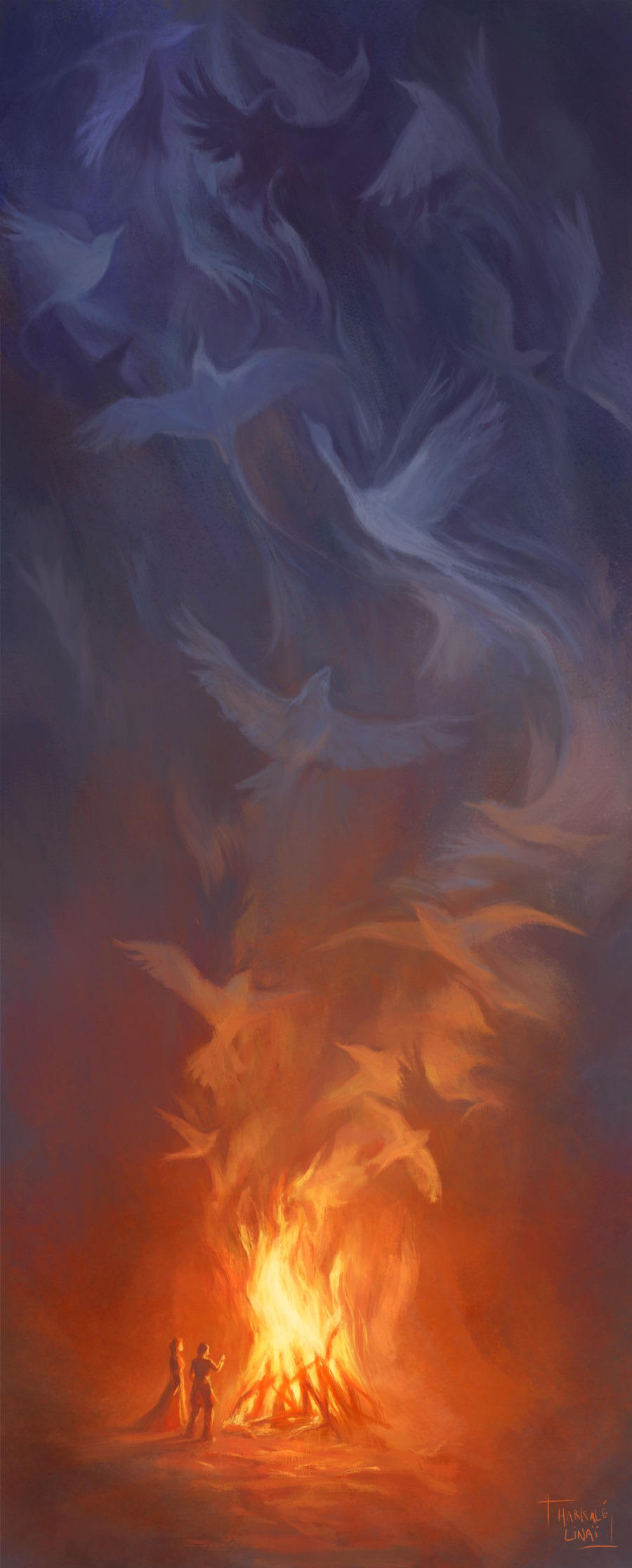 Elusive Children of Fire and Air by Harkale-Linai