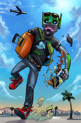 Watermelon Exo is going to LA! by lazesummerstone