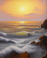 Storming coast by uvar