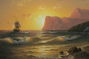 Sea sunset by uvar