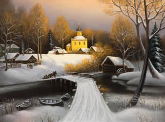 Winter pastorale by uvar