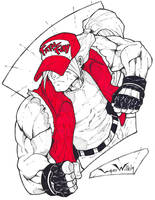 Terry Bogard Sketch by LordWilhelm
