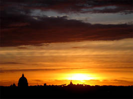 sunset in rome by HugoH