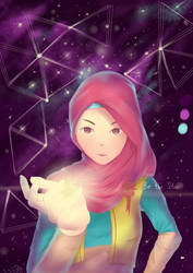 Hijab Girl by jingga-senja