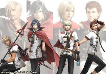 Four Warriors of Class Zero by evangelinengelo
