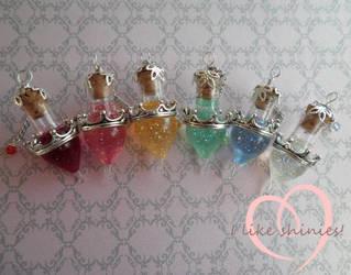 Disney inspired Princess potions by ilikeshiniesfakery