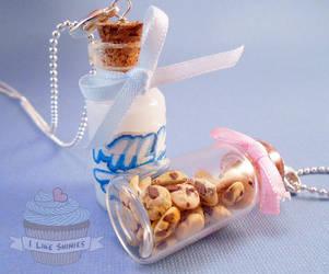Milk and Cookies best friend necklaces by ilikeshiniesfakery