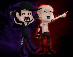 kane and undertaker chibi by Tiger1996