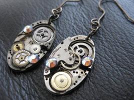 Steampunk Earrings by xxPRECIOUSMOMENTSxx