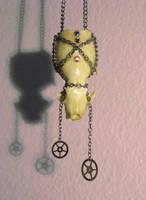Steampunk Necklace-Mink Skull2 by xxPRECIOUSMOMENTSxx