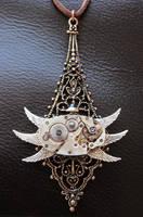 Steampunk Bug Necklace by xxPRECIOUSMOMENTSxx