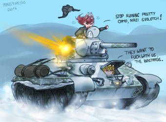 T-34 Winter Forest Camo by Panzermeido