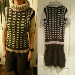 Crochet jumper dress done!  by StrandedAutumn